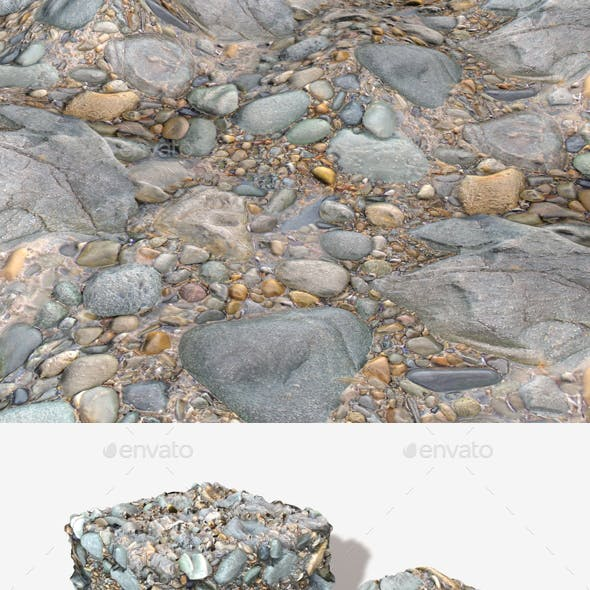 Rocky Wet Beach Seamless Texture