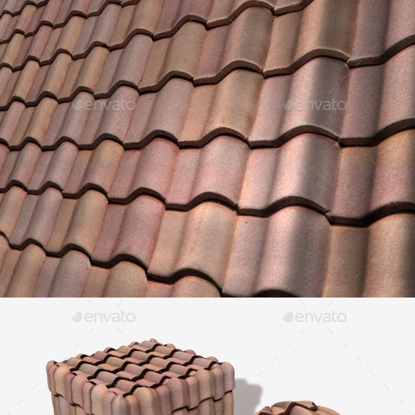 Terracotta Roof Tiles Seamless Texture
