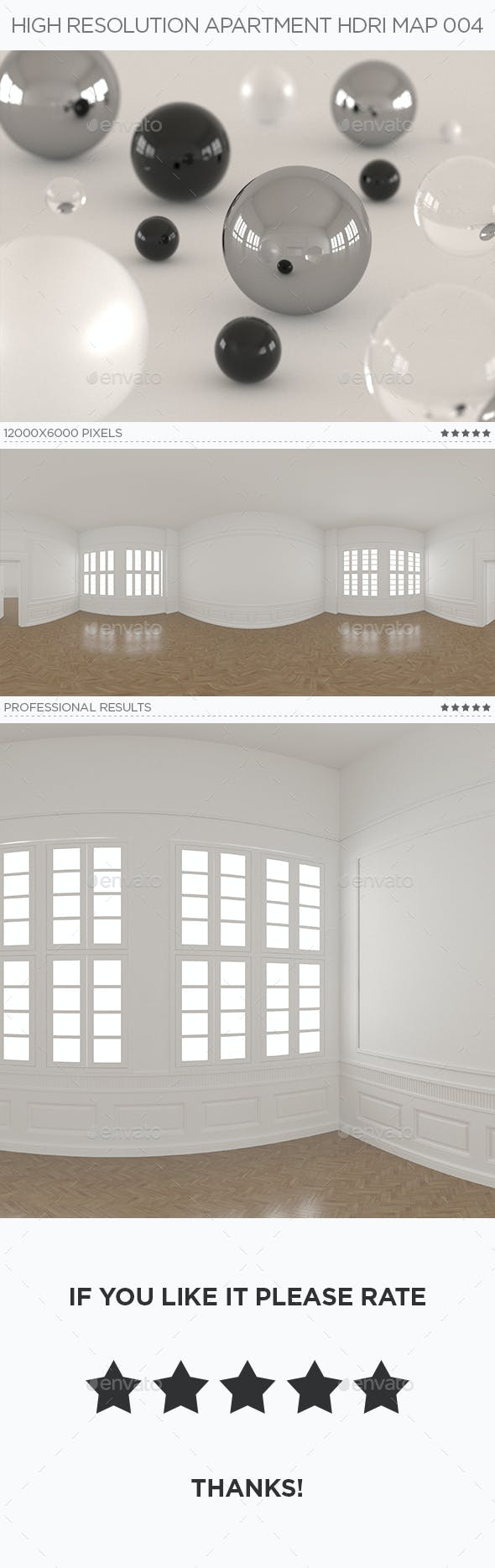 High Resolution Apartment HDRi Map 004 - 3DOcean Item for Sale
