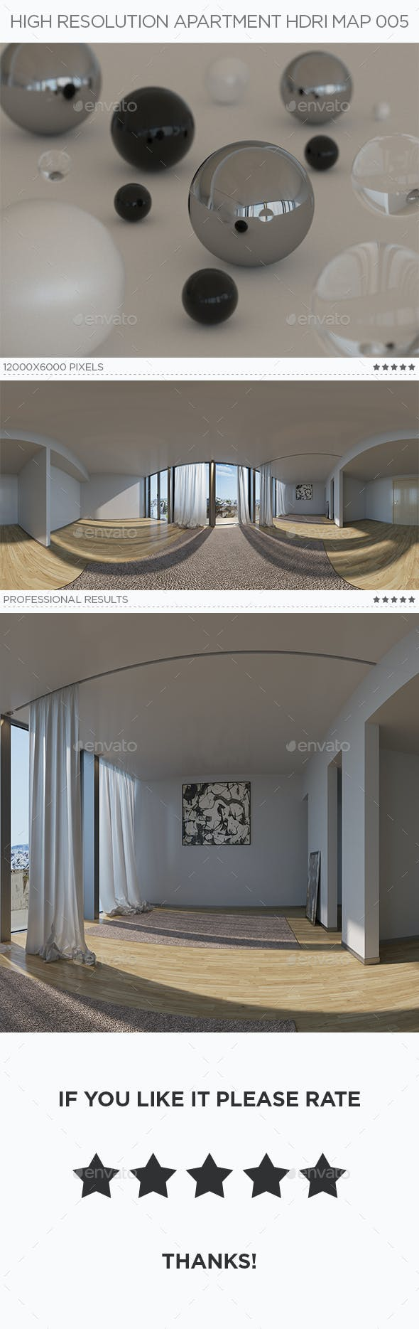 High Resolution Apartment HDRi Map 005 - 3DOcean Item for Sale
