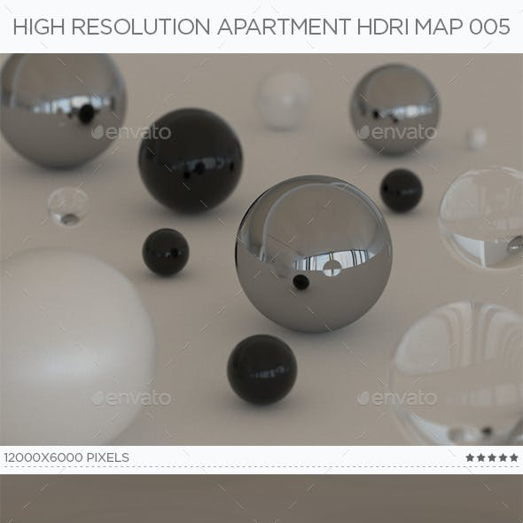 High Resolution Apartment HDRi Map 005