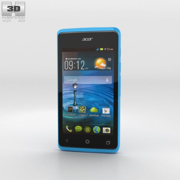 Acer Liquid Z200 Sky Blue - 3DOcean Item for Sale