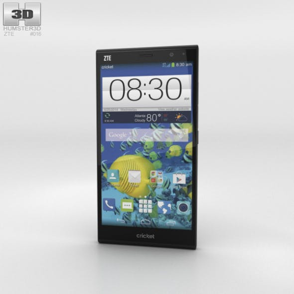 ZTE Grand Xmax Black - 3DOcean Item for Sale