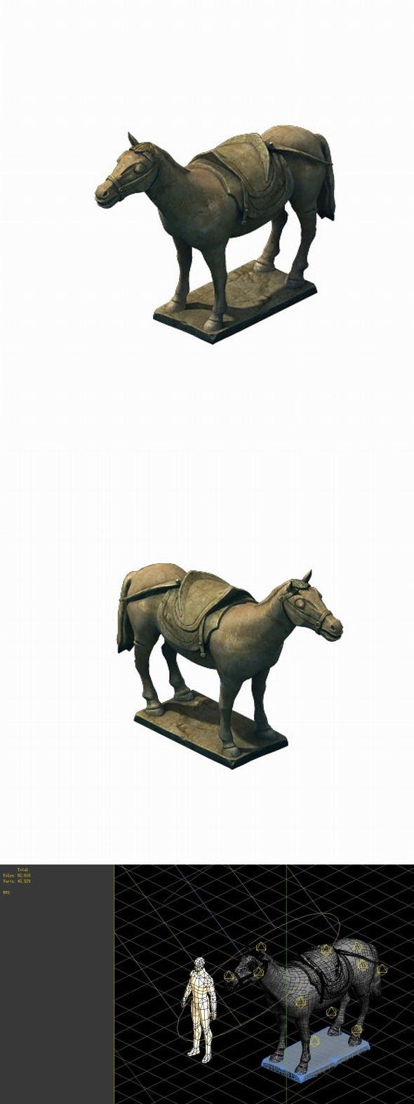 Game Model - Terracotta Warriors and Horses - 3DOcean Item for Sale
