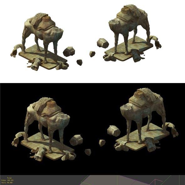 Game Model - Broken camel stone carving