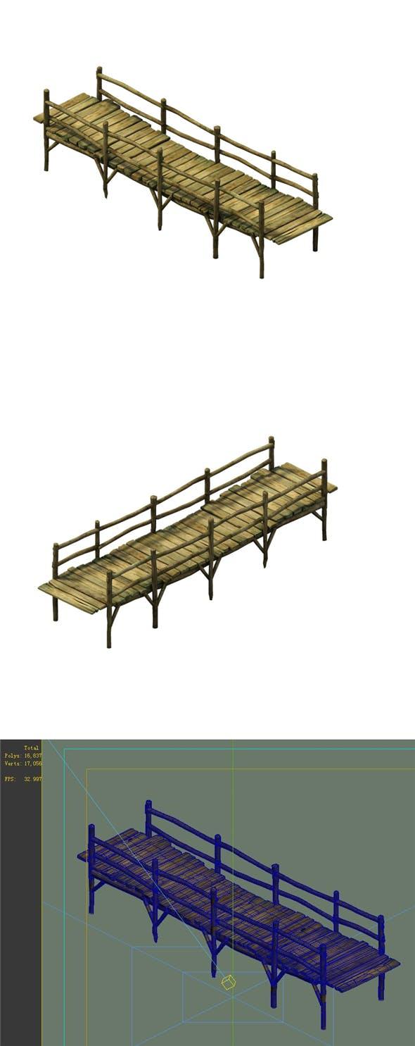 Game Model - Broken Wooden Bridge 02 - 3DOcean Item for Sale
