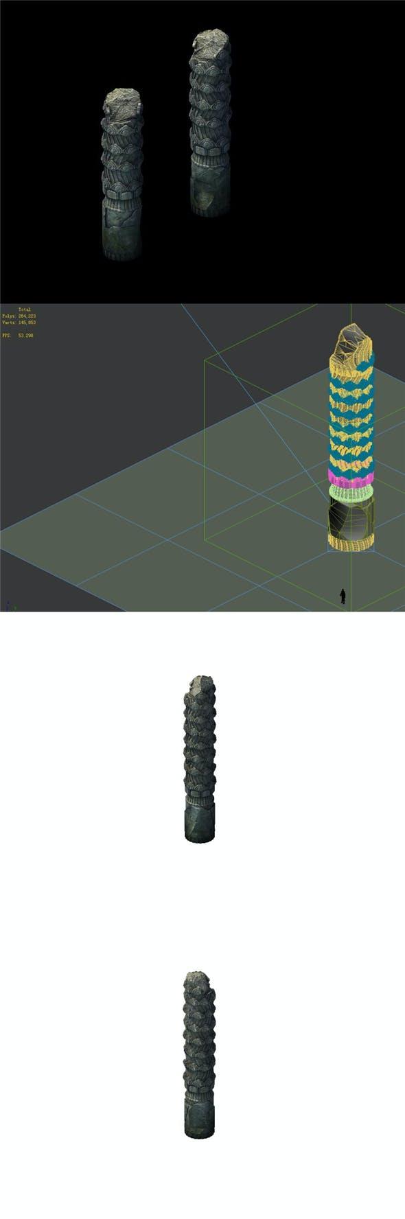 Game Model - Broken Stones 01 - 3DOcean Item for Sale
