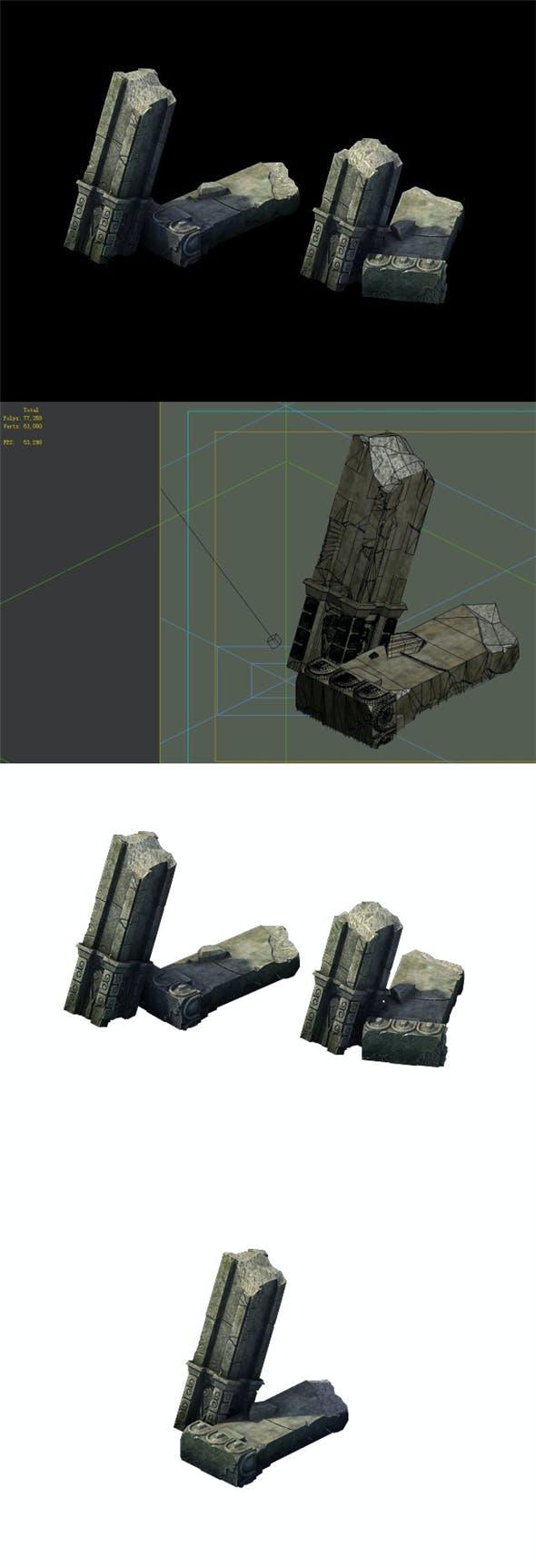 Game Model - Broken Stones 02 - 3DOcean Item for Sale