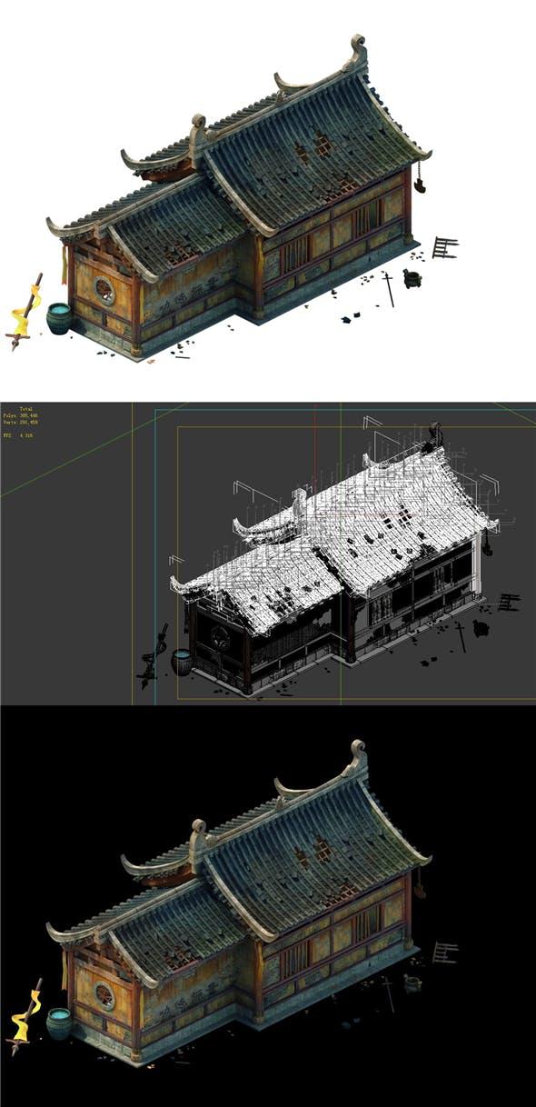 Game model - broken temple side hall 02 - 3DOcean Item for Sale