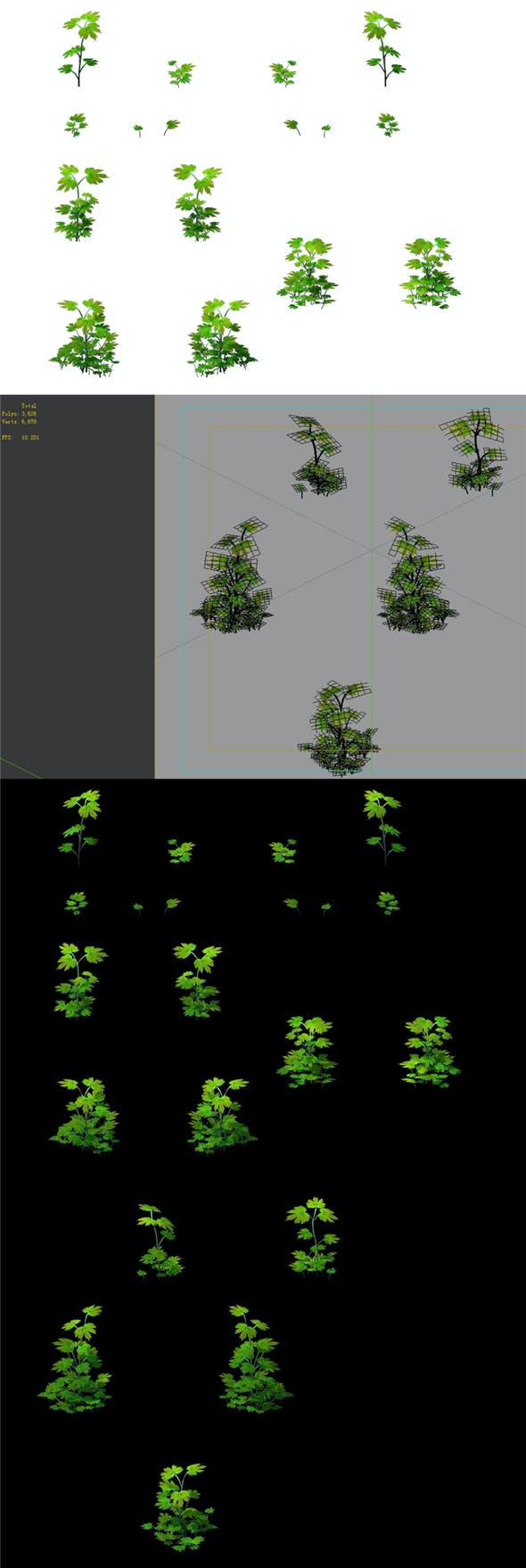 Game Model - Grass 02 - 3DOcean Item for Sale
