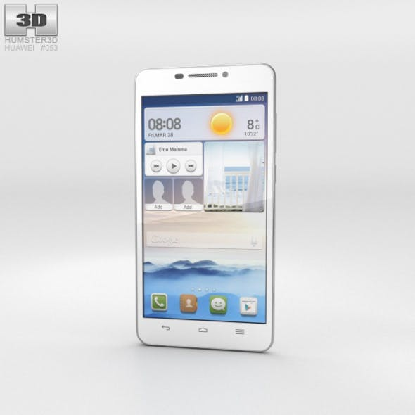 Huawei Ascend G630 White - 3DOcean Item for Sale