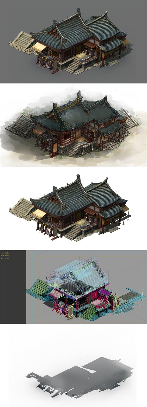 Game Model - City Blacksmith Shop - 3DOcean Item for Sale