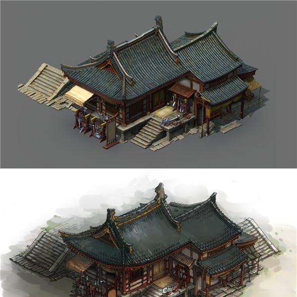Game Model - City Blacksmith Shop