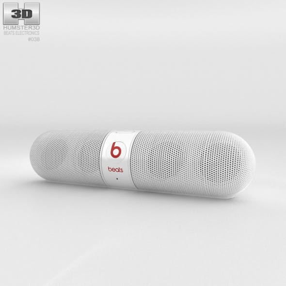 Beats Pill 2.0 Wireless Speaker White - 3DOcean Item for Sale
