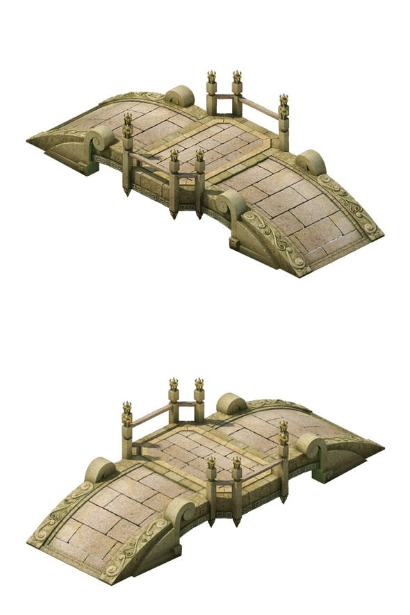 Game Model - City Stone Bridge - 3DOcean Item for Sale