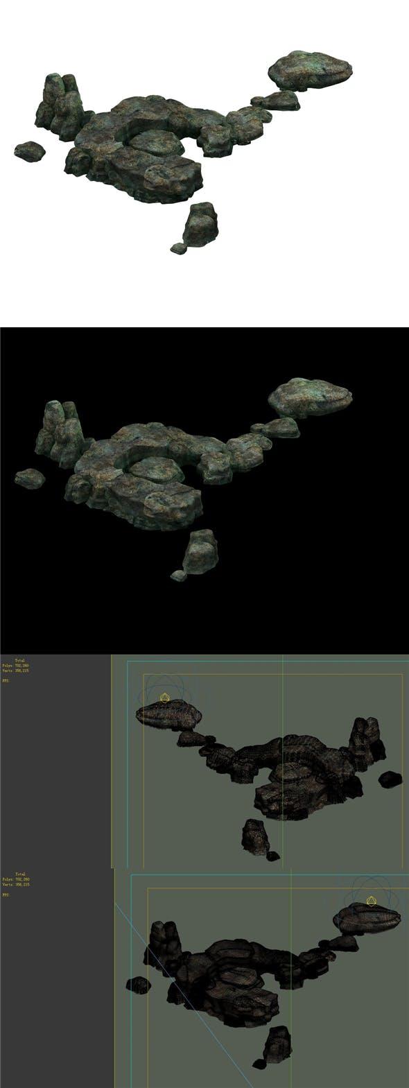 Game model - size stones Fish Flies - 3DOcean Item for Sale