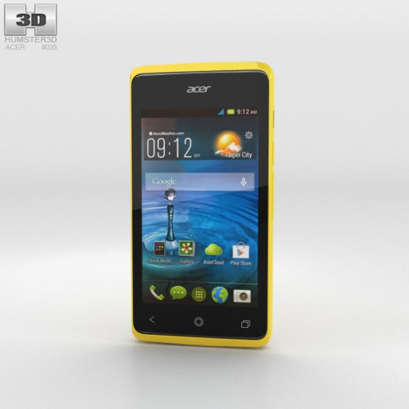 Acer Liquid Z200 Sunshine Yellow - 3DOcean Item for Sale