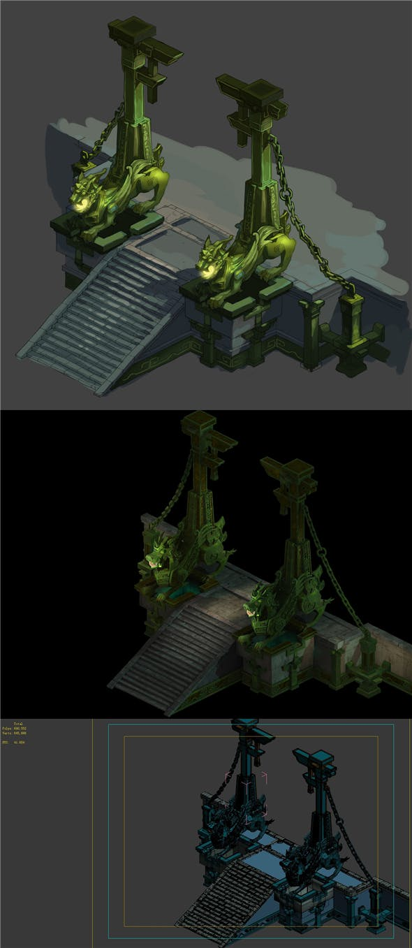 Game model - the second floor entrance to the underground palace - 3DOcean Item for Sale