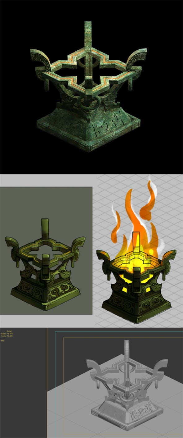 Game Model - Underground Palace of Death Palace - 3DOcean Item for Sale