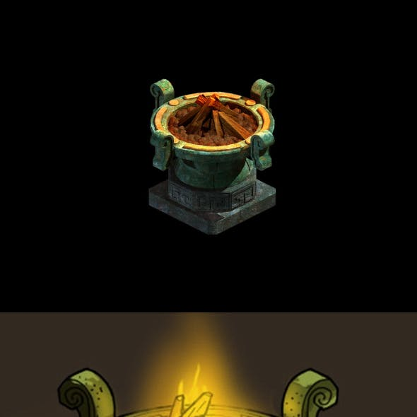 Game model - Palace of the Imperial Palace Bronze brazier