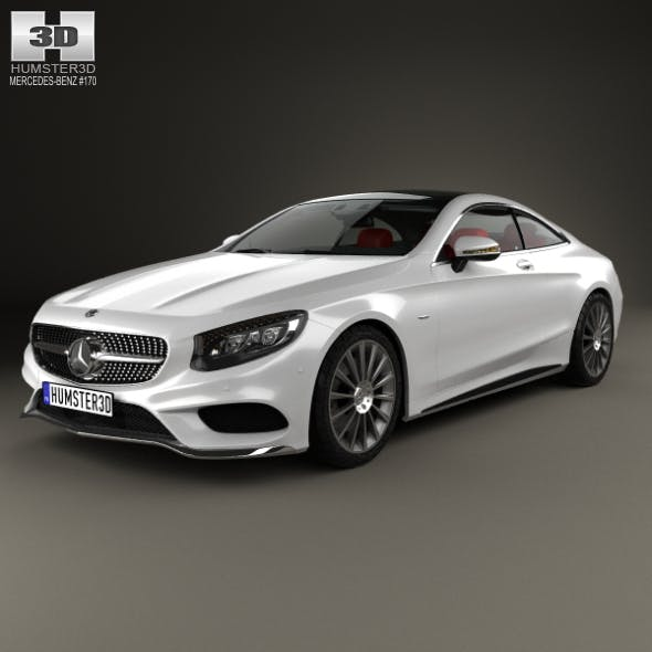Mercedes-Benz S-Class AMG Sports Package (C217) coupe with HQ interior 2014 - 3DOcean Item for Sale