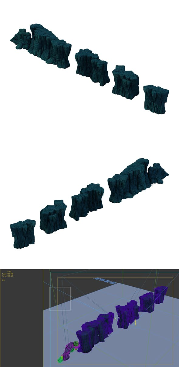 Game Model - Cave Wall - 3DOcean Item for Sale