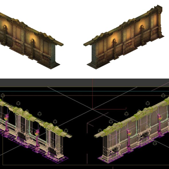 Game Model - Ancient tomb wall 013