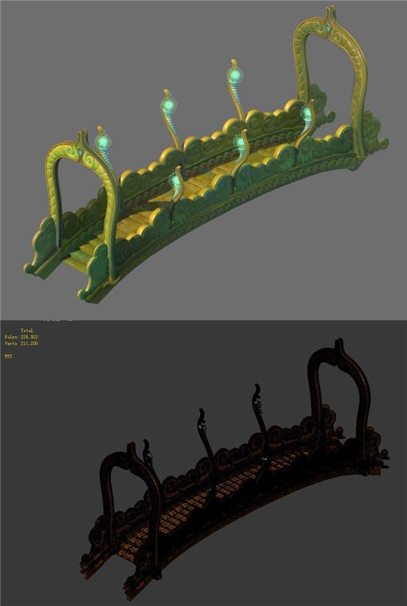 Game Model - Seabed - Seabed Golden Bridge - 3DOcean Item for Sale