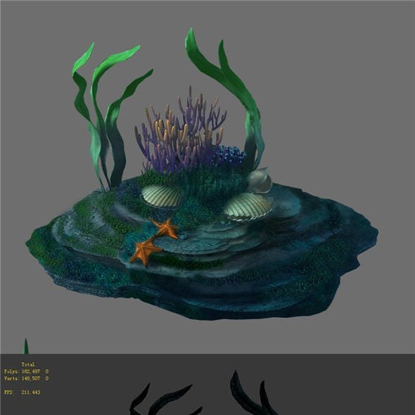 Game Model - Seabed - Coral Reef