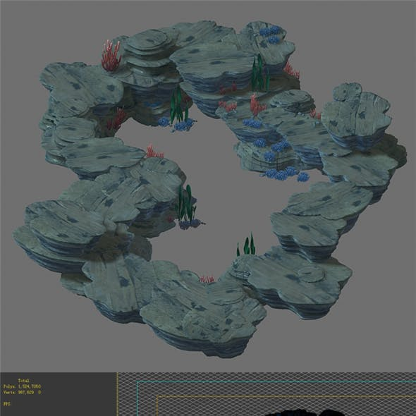 Game Model - Seabed Cliff 2