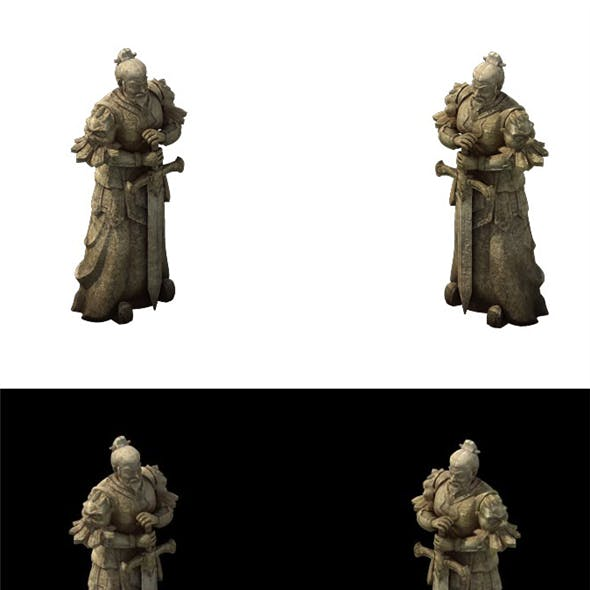 Game Model - General of the Warring States Terra cotta stone carving