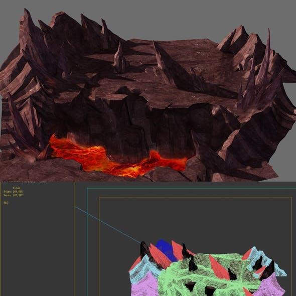 Game Model - Volcano Cliff