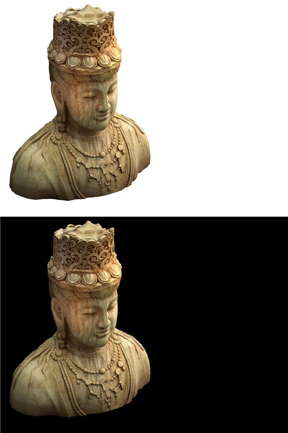 Game Model - Kasai Buddha Traces Forest statue - 3DOcean Item for Sale
