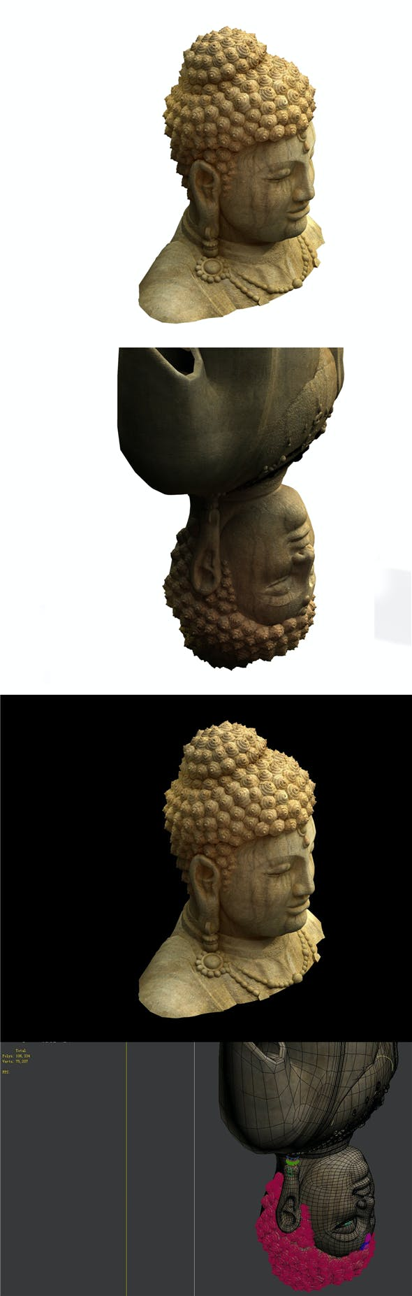 Game Model - Kashayana Buddha Forest Crown 2 - 3DOcean Item for Sale