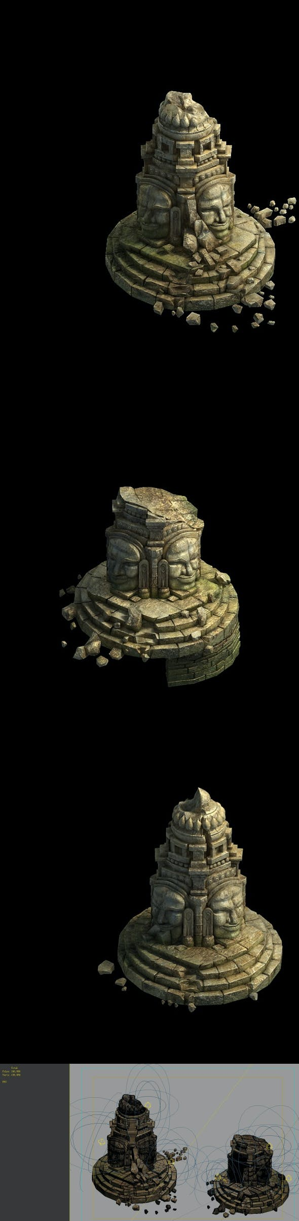 Game Model - Kasai Buddha Traces forest Asura Magic array 02 - 3DOcean Item for Sale