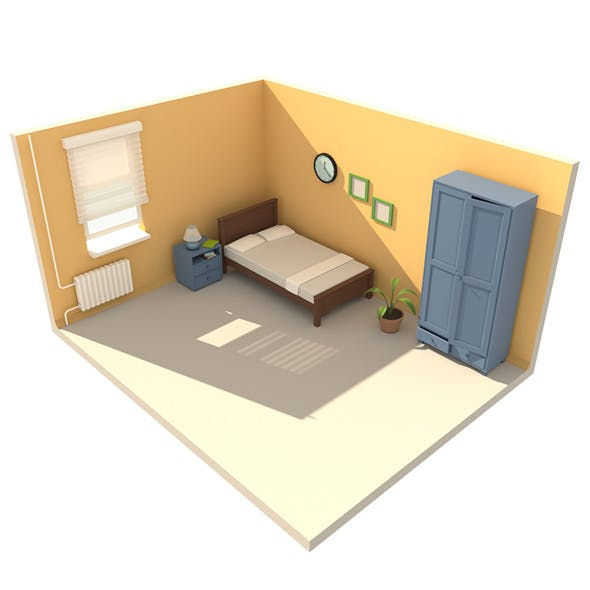 interior low poly - 3DOcean Item for Sale