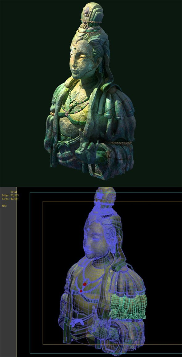 Game Model - Buddha statue of Buddha Kasai - 3DOcean Item for Sale
