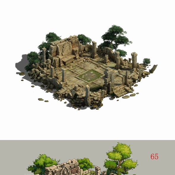 Game Model - Kashayana Buddha Forest Law Hall altar