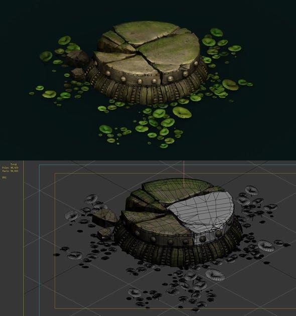 Game Model - Kapu Buddha Trail Forest Little Lotus Block - 3DOcean Item for Sale