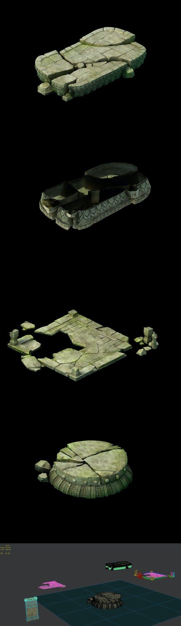 Game Model - Kaji Buddha material material adjustment - 3DOcean Item for Sale