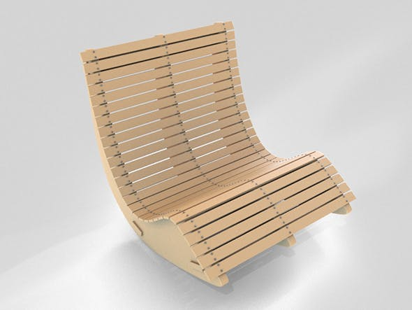 Wood Lounge Chair - 3DOcean Item for Sale
