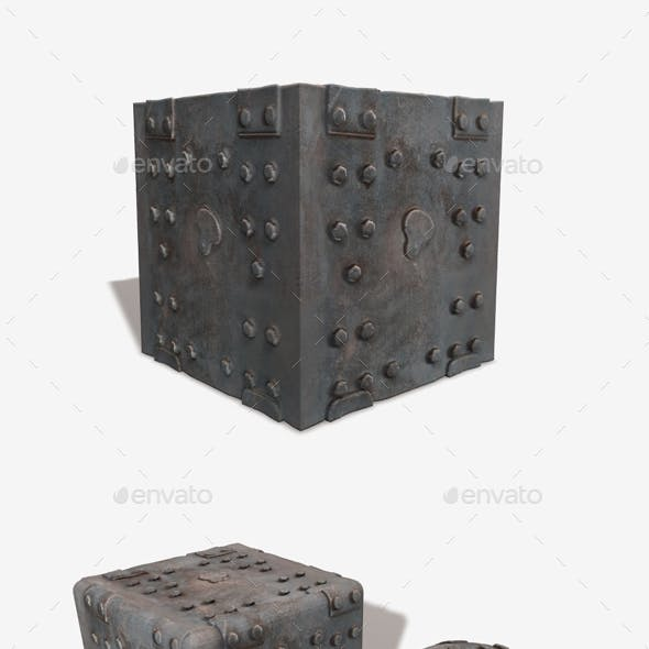 Bolted Wooden Box Seamless Texture