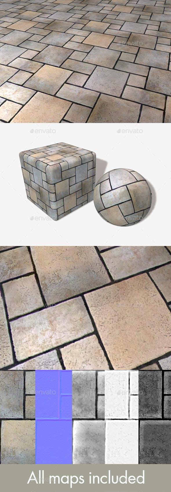 Restaurant Floor Tile Seamless Texture - 3DOcean Item for Sale