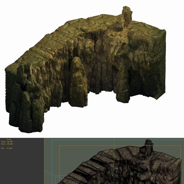 Game Model - Buddha Cliff Cliffs