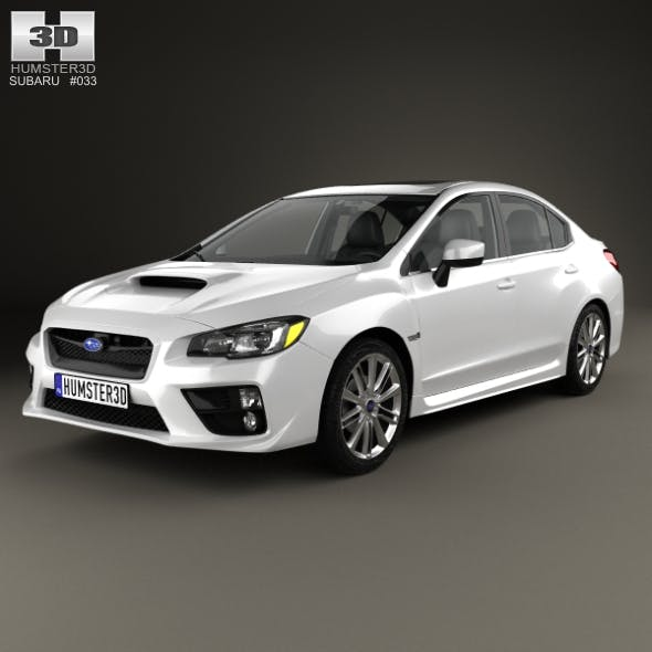 Subaru WRX with HQ interior 2014 - 3DOcean Item for Sale
