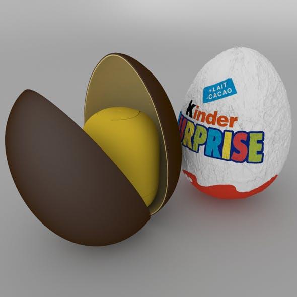 Chocolate Egg Kinder Surprise - 3DOcean Item for Sale