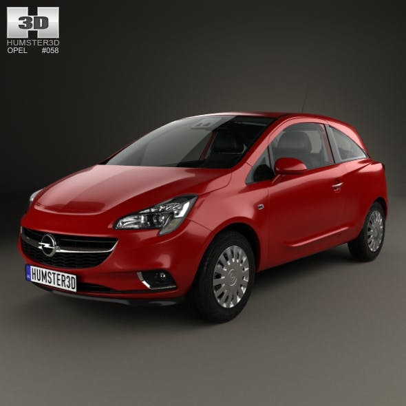 Opel Corsa (E) 3-door with HQ interior 2014 - 3DOcean Item for Sale