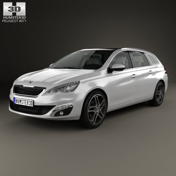 Peugeot 308 SW with HQ interior 2014 - 3DOcean Item for Sale
