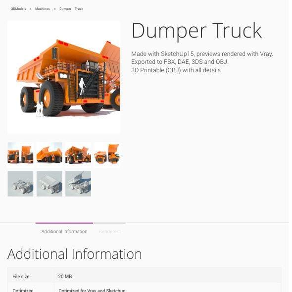 Dumper Truck Lowpoly
