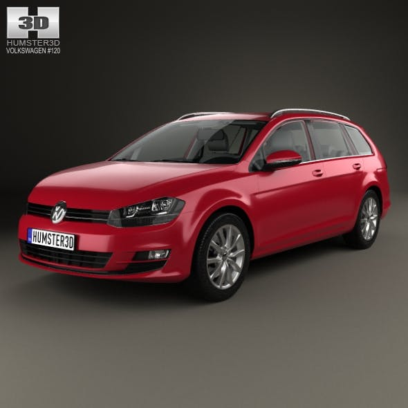 Volkswagen Golf variant with HQ interior 2014 - 3DOcean Item for Sale